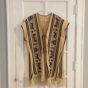 Vintage Western Poncho
